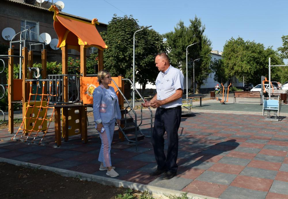 Ольга Торубарова и Андрей Захаров посетили ряд объектов капитального ремонта и комплексного благоустройства
